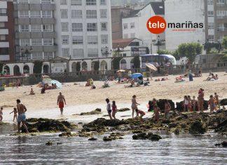 Playa de A Ribeira, en Baiona.