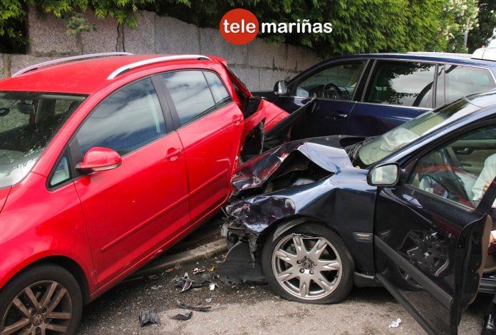 Seis vehículos implicados en un accidente de tráfico en Panxón