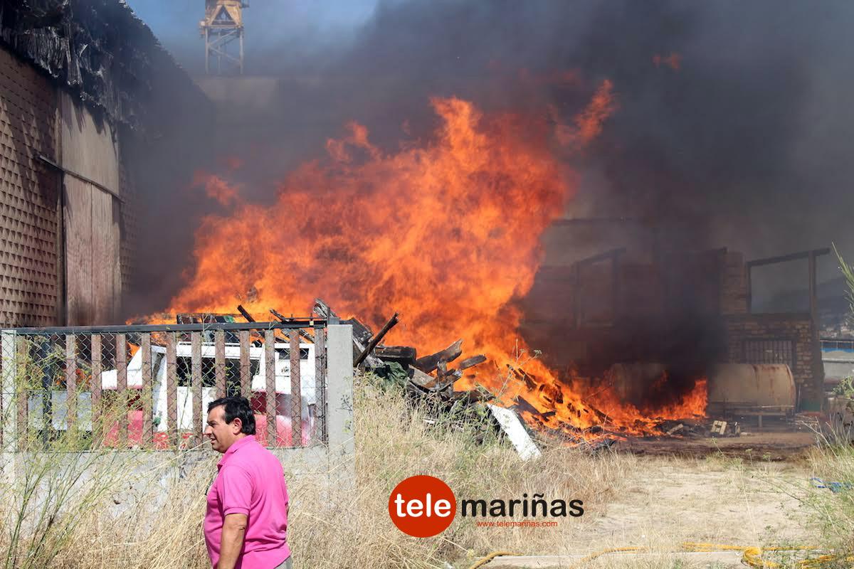 Incendio Astillero Joaquin Castro de Camposancos A Guarda 2