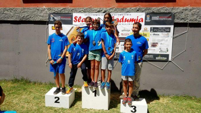 Buen balance para los Teixugos en el Campeonato Gallego de Promoción de Slálom