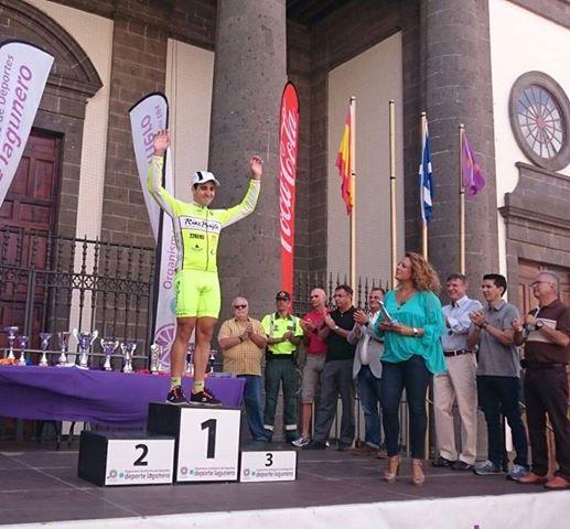Gran cosecha para el guardés Aser Estévez en la Vuelta a Tenerife