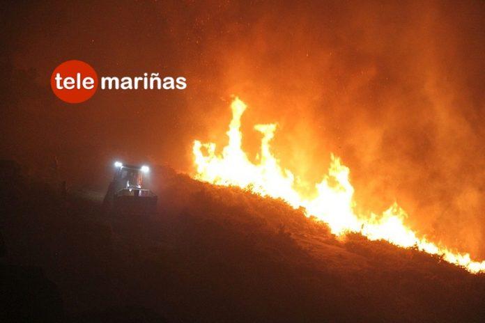 Controlado el incendio de Vincios, que quemó más de 30 hectáreas