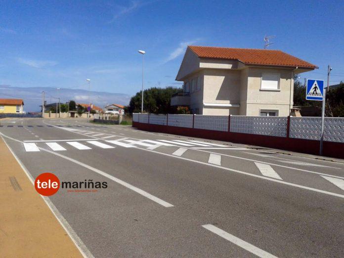 La Xunta pinta los pasos de peatones tras la reclamación del Concello de Nigrán y las protestas de los vecinos de Panxón