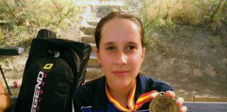 La arquera baionesa Silvia Marcote, campeona de España de tiro con arco 3D