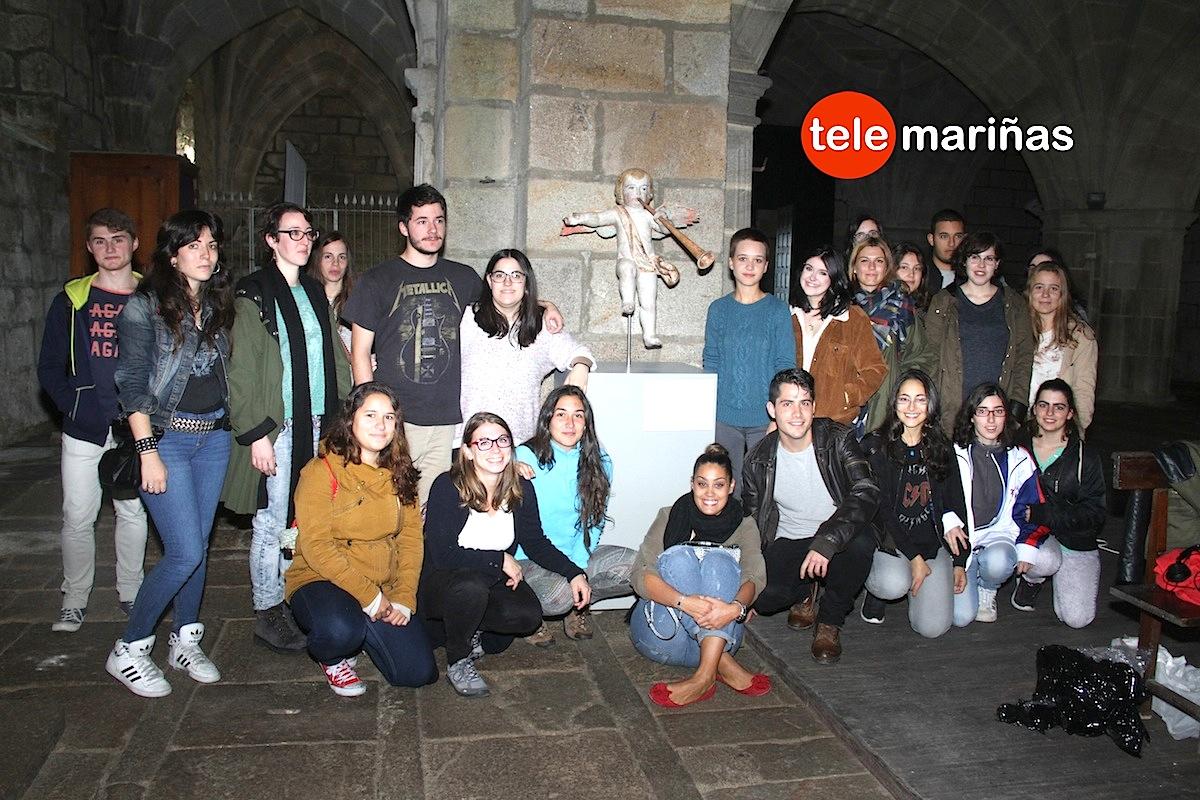 La iglesia monacal de Oia recupera un Ángel Trompetero del siglo XVIII