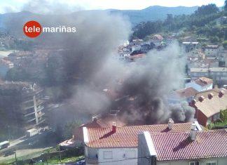 Arde un coche en Baiona