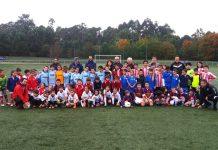 """Gondomar inauguró las """"Deporte Escolas"""" de fútbol de la Diputación"""