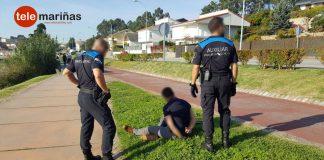 La Policía Local de Nigrán detiene a un hombre en A Ramallosa que estaba en busca y captura