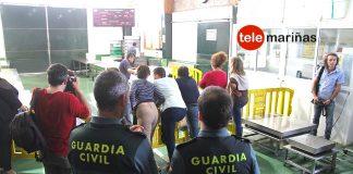 Presencia de la Guardia Civil para subastar el percebe en Baiona