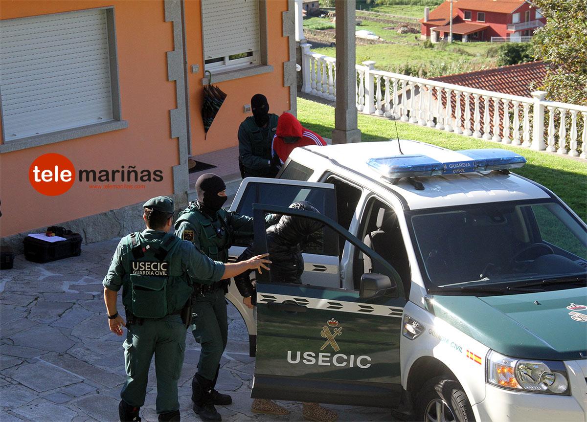 Al menos dos detenidos en Oia en una macrooperación antidrogas en el sur de la provincia