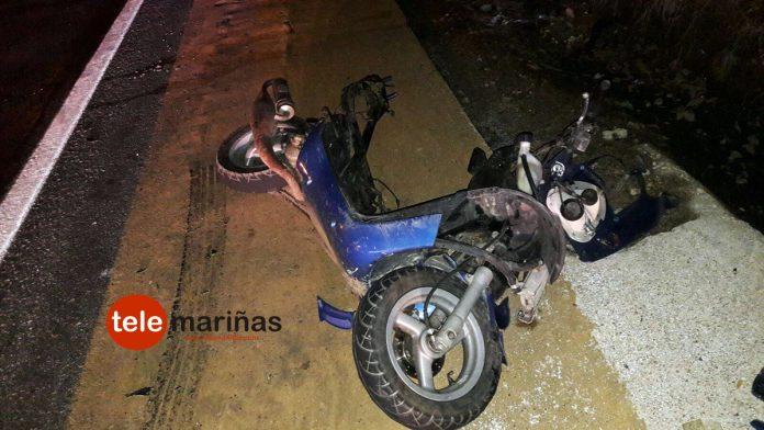 Embiste con una moto presuntamente robada a un coche y se da a la fuga en Gondomar