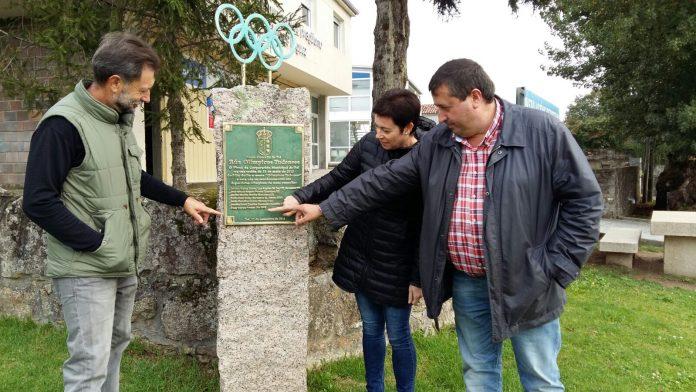Óscar Carrera Amandi ya figura en la placa de la Rúa Olímpicos Tudenses