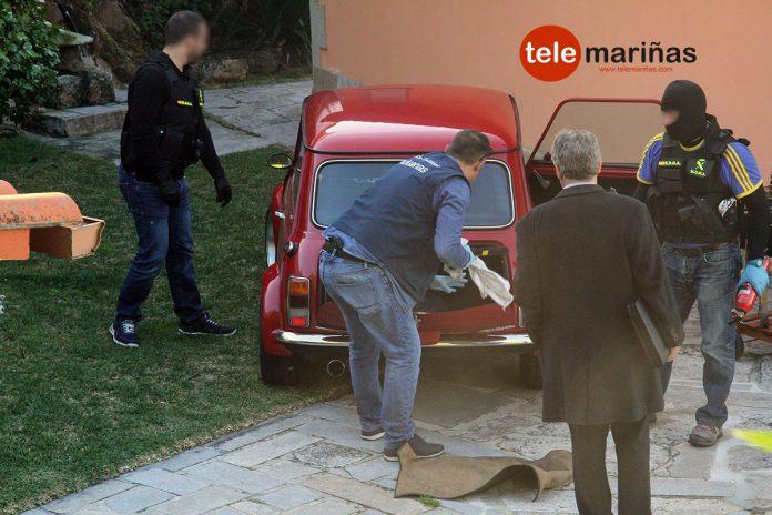 Seis detenidos, cocaína, armas de fuego y 25.000 euros incautados en los diferentes registros en Tomiño y Oia