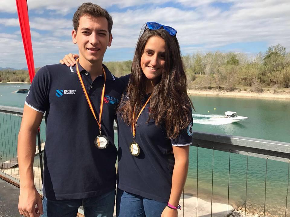 CEDIDA // Silvia con la medalla tras lograr la victoria en el Campeonato de España.