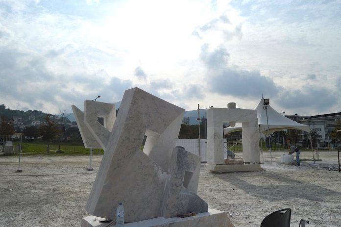 El II Simposio de Escultura do Miño llega a su fin con cuatro obras espectaculares