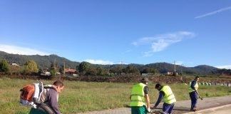 Usuarios del Centro Juan María recuperan árboles en Porto do Molle
