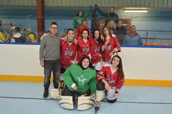 Debut de los equipos infantil y femenino de A Guarda Hockey Liña en la Liga Galega