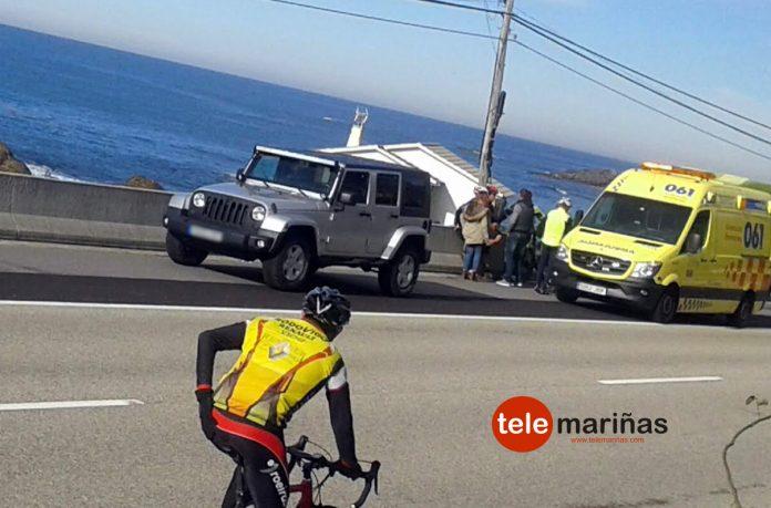 Choque entre ciclistas en el carril bici que une Baiona con A Guarda