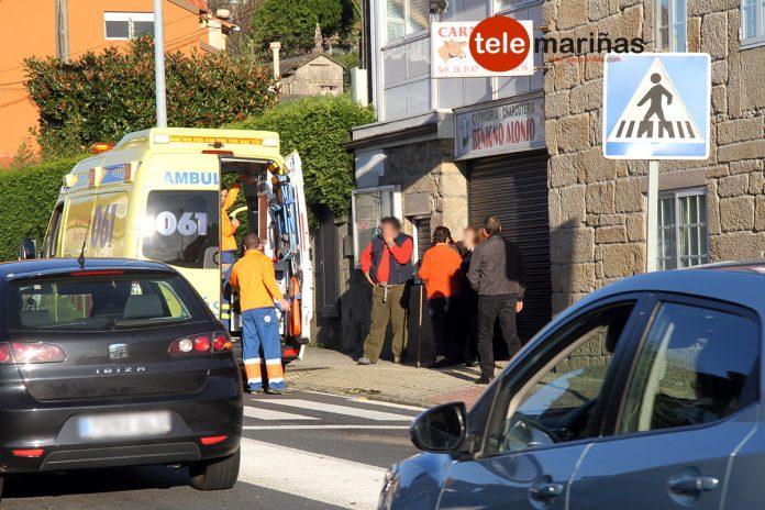 Dos heridos en un choque por alcance entre tres vehículos en Vincios