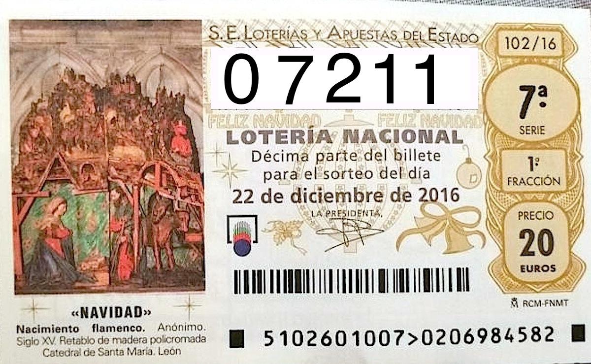 Lotería de Navidad: Cuarto premio 07.211 - Telemariñas