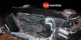Grave tras sufrir un espectacular accidente en Tomiño