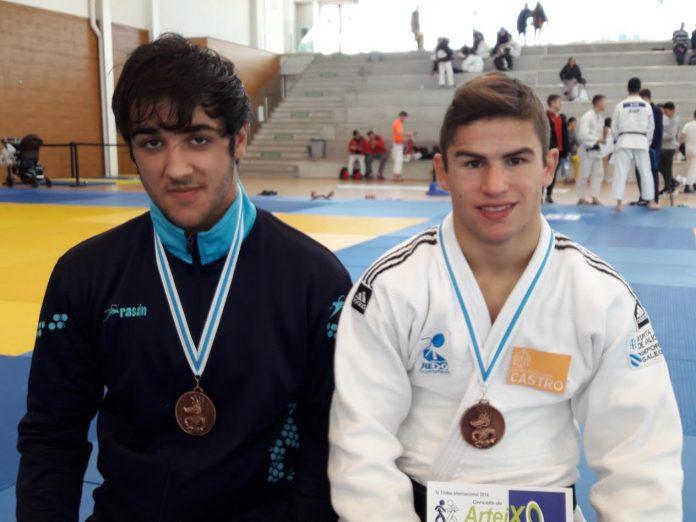 El Club de Judo Baixo Miño logra dos medallas en Arteixo