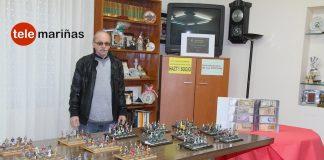 Exposición de soldaditos de plomo y billetes antiguos en Nigrán