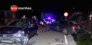 Aparatoso accidente de tráfico en A Ramallosa