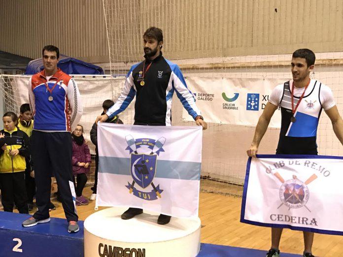 Óscar Alonso, campeón gallego de remoergómetro en Ferrol