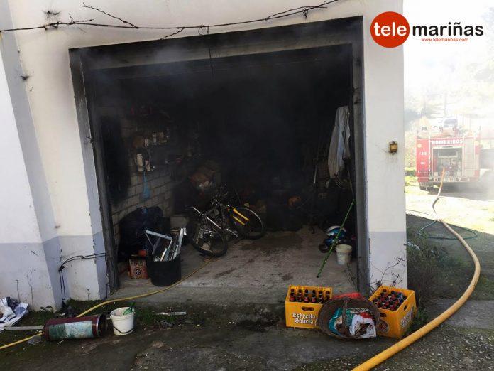 Incendio en una casa en A Guarda