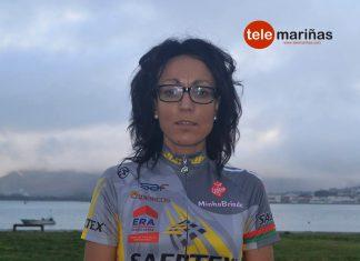Montserrat Martínez Alonso, una mamá ciclista en A Guarda