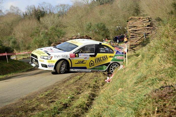Dos 'trompos' alejan al piloto de Vincios del podio en el Rally de A Coruña