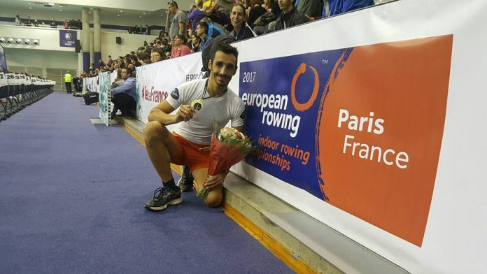 El guardés Damián Alonso, campeón de Europa de remoergómetro en París