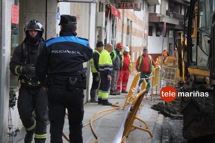 Alarma en Baiona por una fuga de gas en la calle Ciudad de Vigo