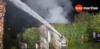 Incendio en una casa deshabitada en Panxón