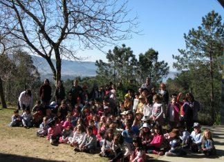 """Alumnos do CEIP da Cruz de Camos plantan un loureiro para conmemorar o """"Día internacional da lingua materna"""""""