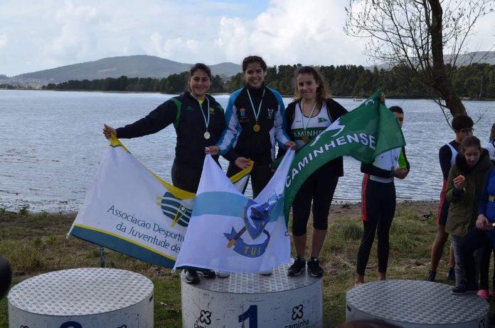 Oro para María Maidana, del club Remo do Miño de Tui, en la regata de remo joven celebrada en Lanhelas