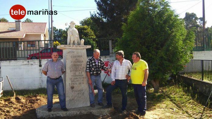 Un busto de San Roque homenajea el centenario de la parranda de San Pedro