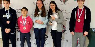 La baionesa Mireya Represa, campeona de Galicia de ajedrez
