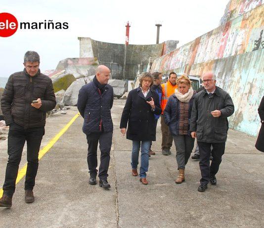 Seis meses para la reparación y refuerzo del dique de A Guarda
