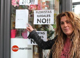 Empapela su negocio de Tomiño en protesta por la competencia desleal