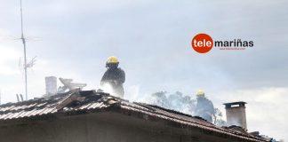 Arde el desván de una vivienda en Tomiño