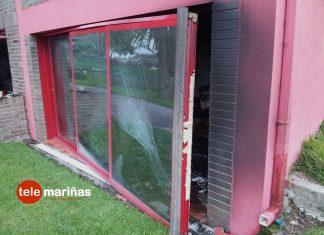 El GES de O Val Miñor sofoca un incendio en un anexo de una vivienda de A Ramallosa