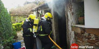 Un cortocircuito en una lavadora provoca un incendio en O Rosal