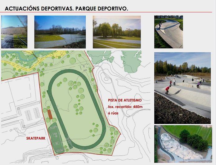 Infografía de la zona deportiva en Porto do Molle que incluirá una nueva pista de skate