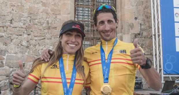 Mavi García y el tudense Gustavo Rodríguez, campeones de España de Duatlón de Media Distancia en Orihuela
