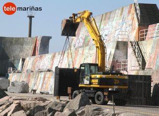 80 bloques de hormigón protegerán el dique de A Guarda de los envites del mar