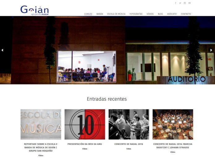 La Agrupación Musical de Goián estrena nueva página web