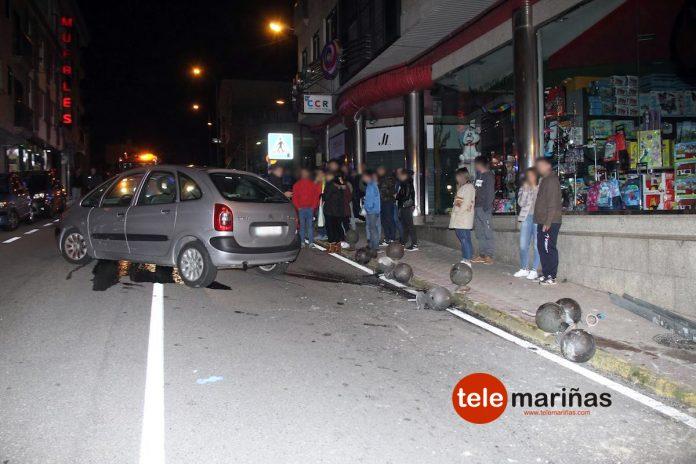 Roba un coche en Panxón y sufre un accidente en A Ramallosa al conducirlo bebido