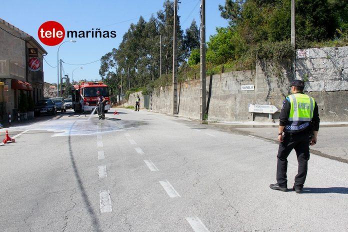 Los vecinos de Camos urgen medidas para frenar el goteo de accidentes de tráfico en la Rúa dos Pazos